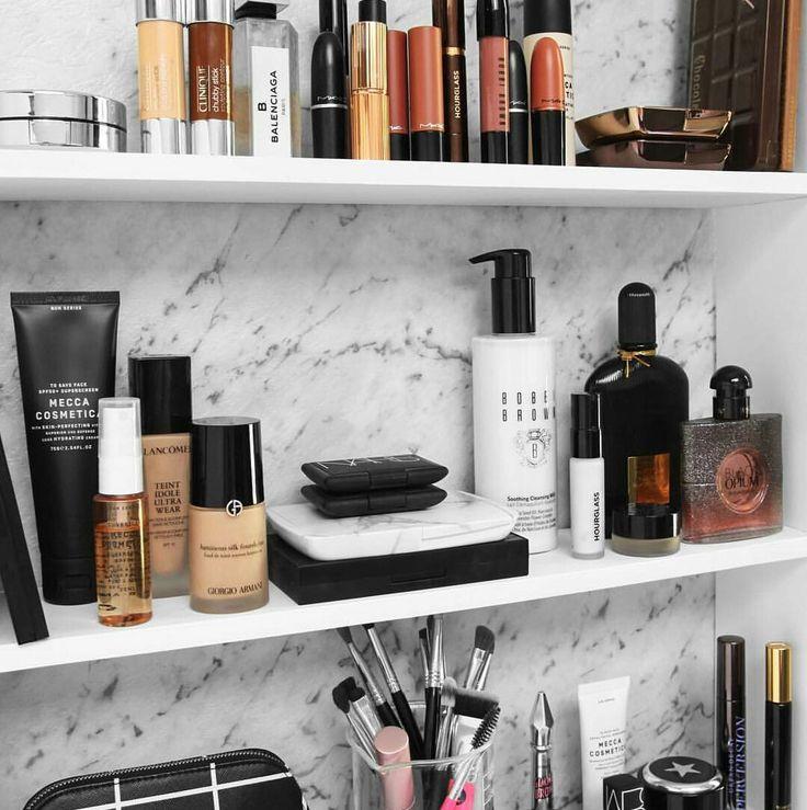 Organized beauty area.