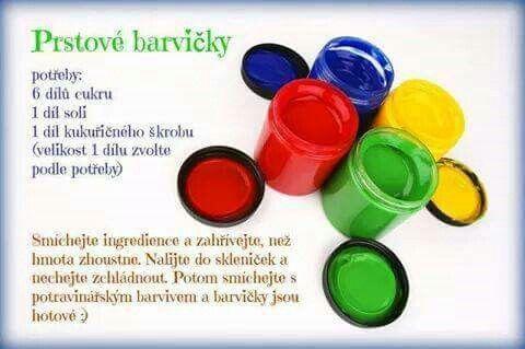 Prstové barvy