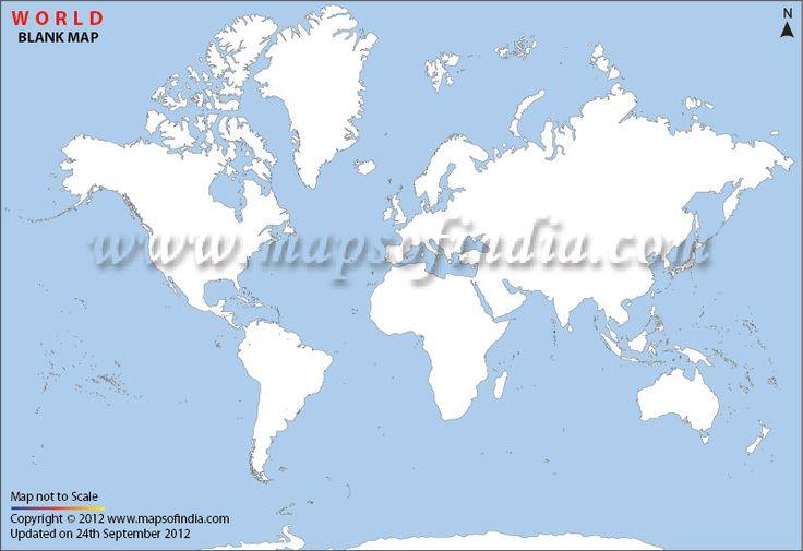 Blank Physical World Map Printable 30 best World M...