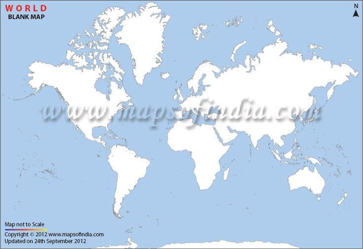outline map of world physical