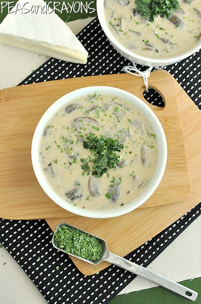 Creamy Mushroom Brie and White Bean Soup | Soup, Stew and Bread | Pin ...