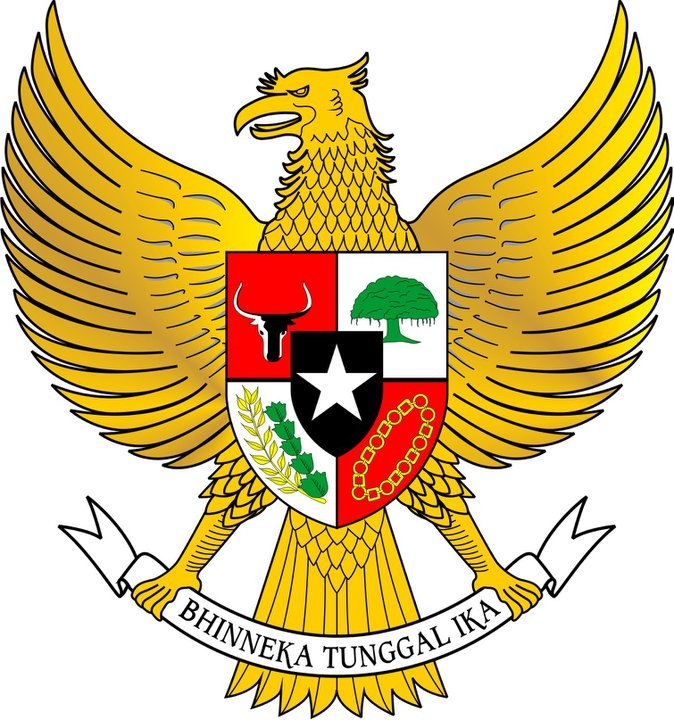 Garuda Pancasila, The Coat of Arms of Indonesia. The main part is the ...
