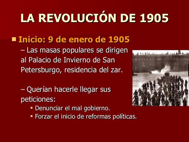 LA REVOLUCIÓN DE 1905 Inicio: 9 de enero de 1905 Las masas populares se dirigen  <...