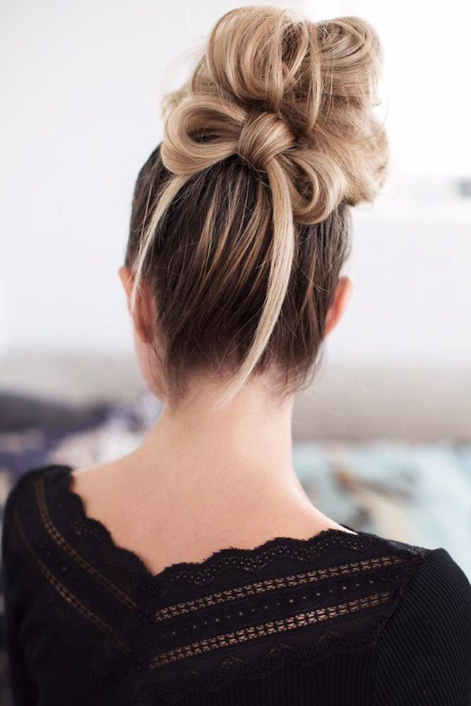 23 Creative Bun Hairstyles To Go Well With Your Mood Cute Bun Hairstyles Bun Hairstyles Medium Hair Styles