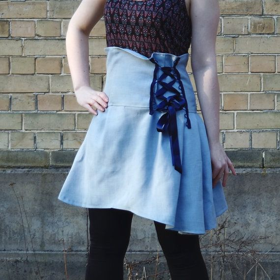 Light blue skirt high waist corset skirt pale blue skirt