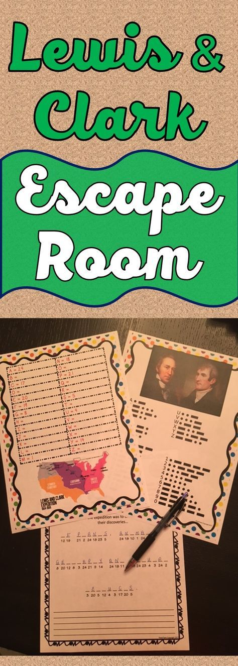 Lewis and Clark ESCAPE ROOM Activity