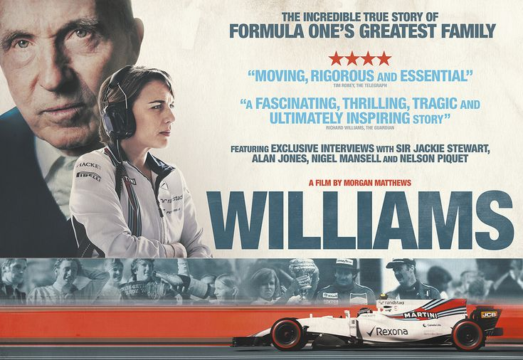 Williams  (2017) TV-MA - 104m  This inspiring documentary charts the birth of Sir Frank Williams's renowned racing empire – and the near-fatal crash that nearly stalled its future.  7.8/10 - IMDB  View trailer || Add/Watch on Netflix