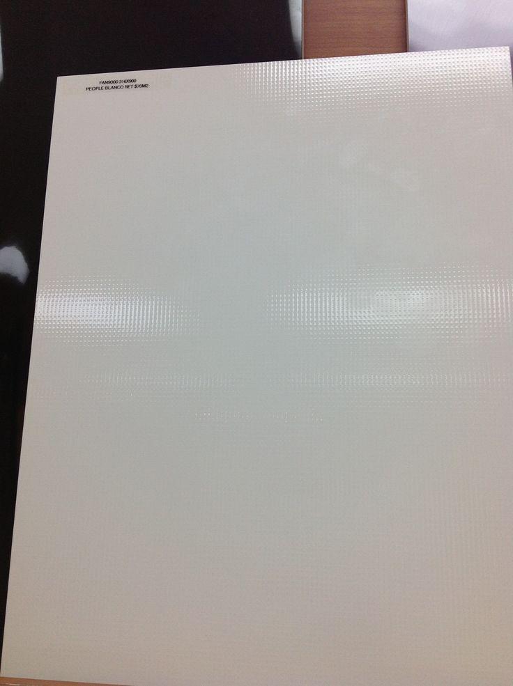 Kitchen Splashback Tiles - White Square Feature Tile