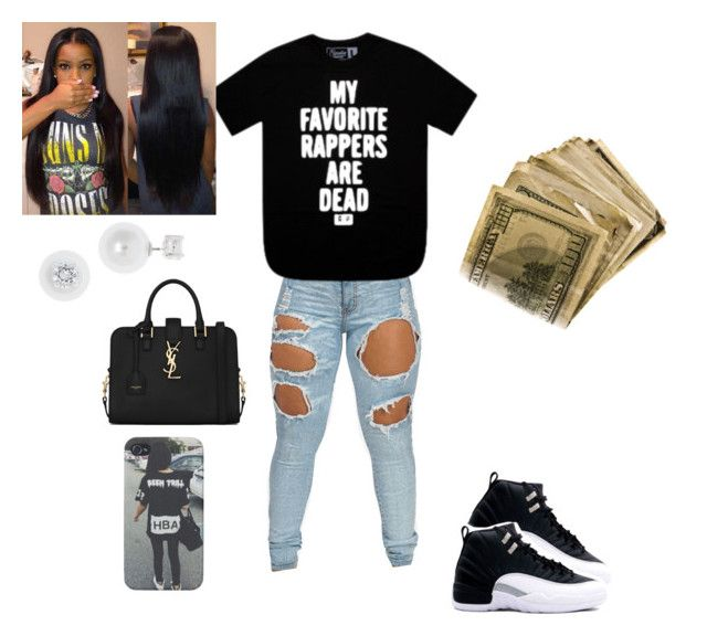 """Tyga ft. Nicki Minaj & Lil Wayne ~Senile"" by mirical on Polyvore featuring Anne Klein and Yves Saint Laurent"