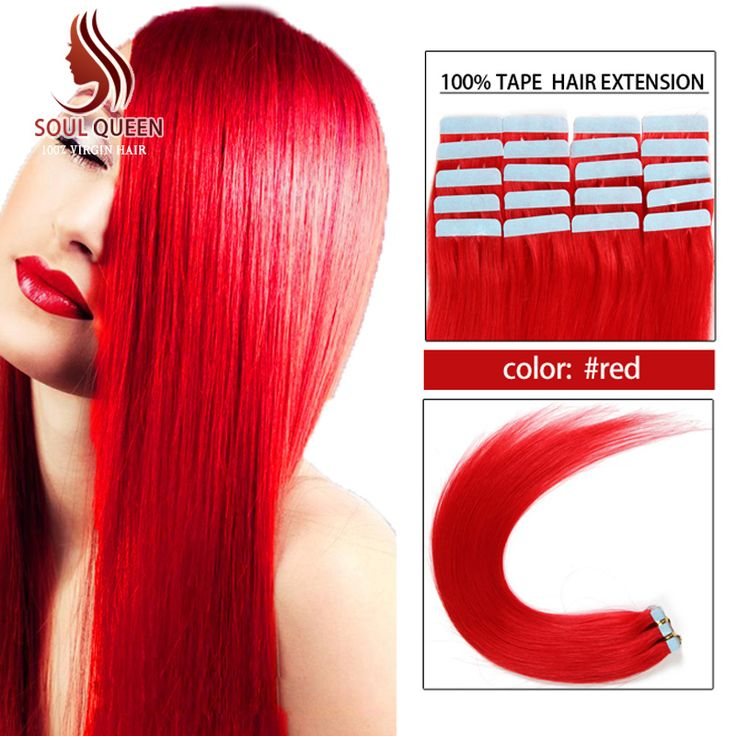57 best soul queen hair images on pinterest change 3 hair aliexpress buy color red tape in human hair extension 20pcslot tape pmusecretfo Choice Image