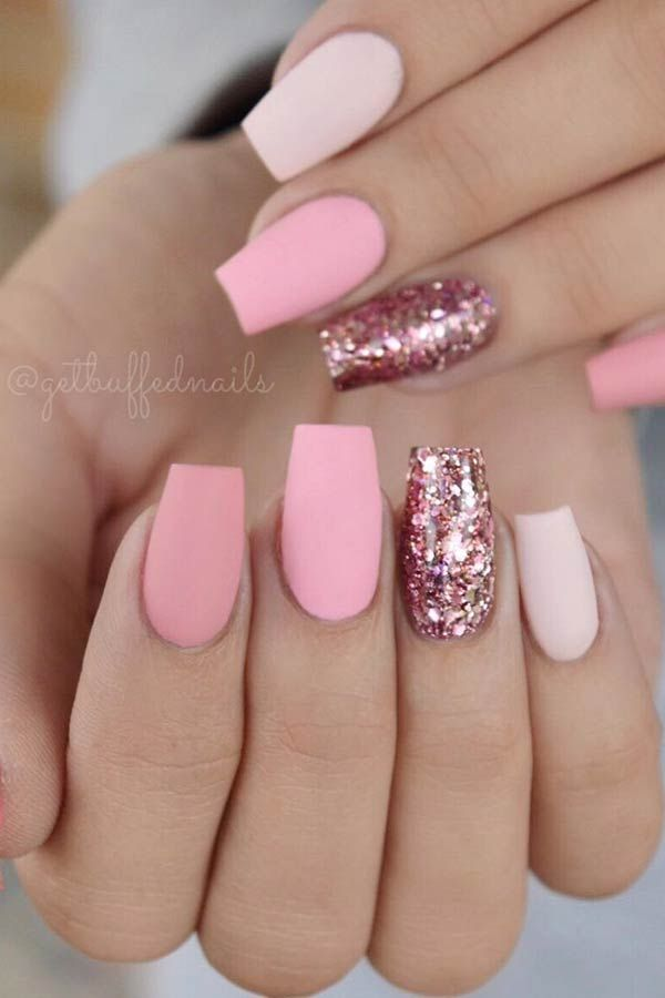 23 Light Pink Nail Designs And Ideas To Try Stayglam Short Coffin Nails Designs Cute Pink Nails Matte Pink Nails