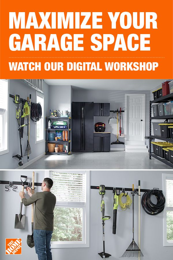 Maximize Your Garage Space With The Home Depot Garage Organization Tips Home Maintenance Checklist Garage Organization