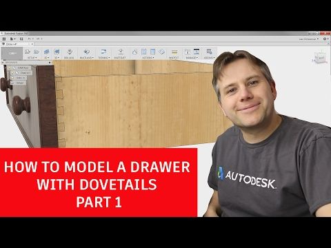 Fusion 360 Tutorial - How to Model an Assembly Drawer with