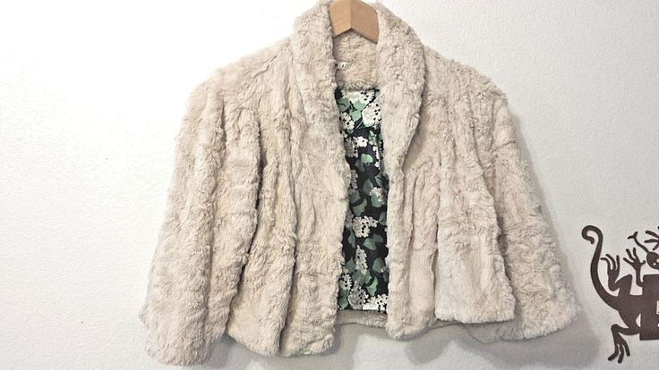 Womens CABI $704  Ivory Faux Fur Bolero Shrug Jacket Size  S Lilacs Bunny Soft! #CAbi #BoleroShrug #Casual
