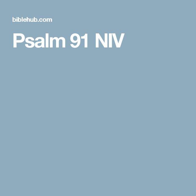 Psalm 91 NIV