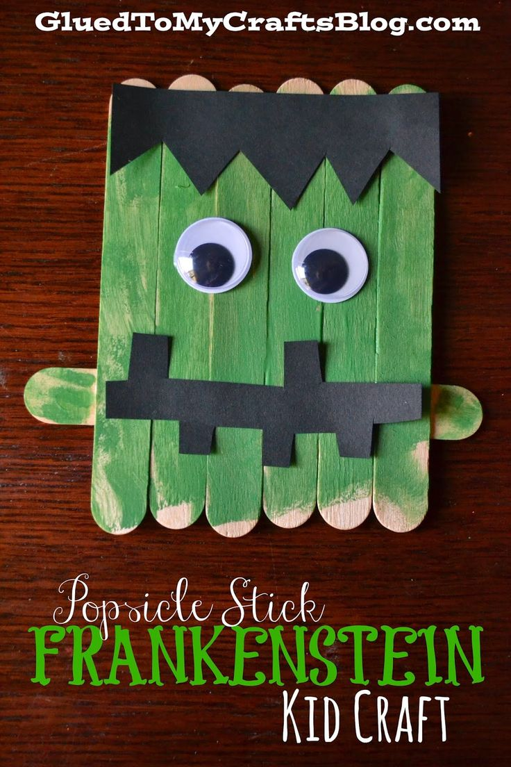 Popsicle Stick Frankenstein {Kid Craft}