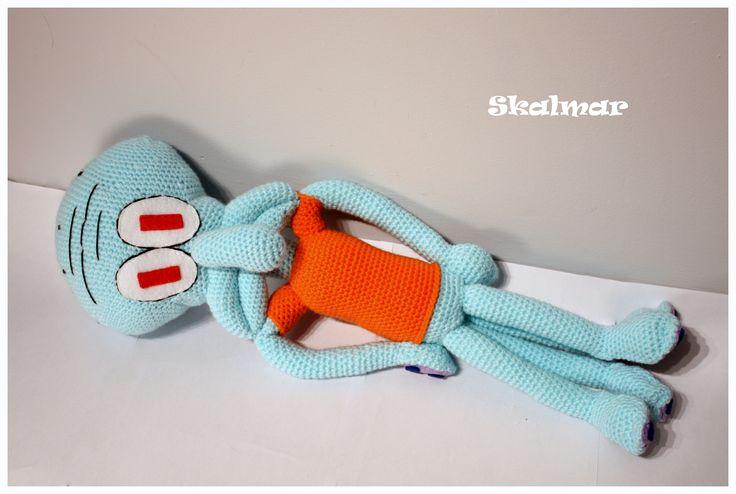 Amgurumi Skalmar #amigurumi #amigurumis #Squidward #Squidwardtentacles #spongebob #szydełkowy #rękodzieło #skalmar #kanciastoporty #crochet