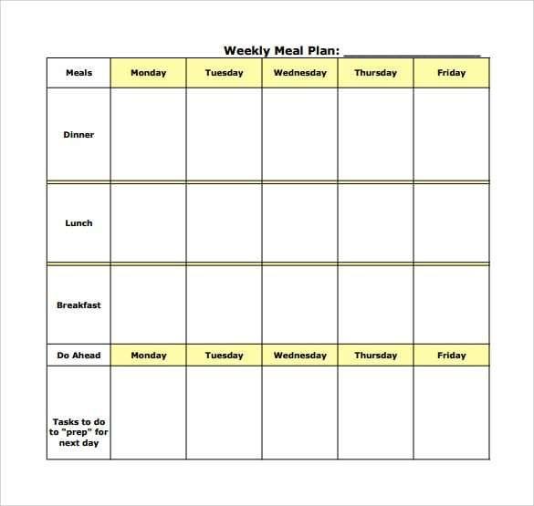 Bodybuilding diet plan excel