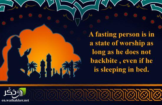 A fasting person