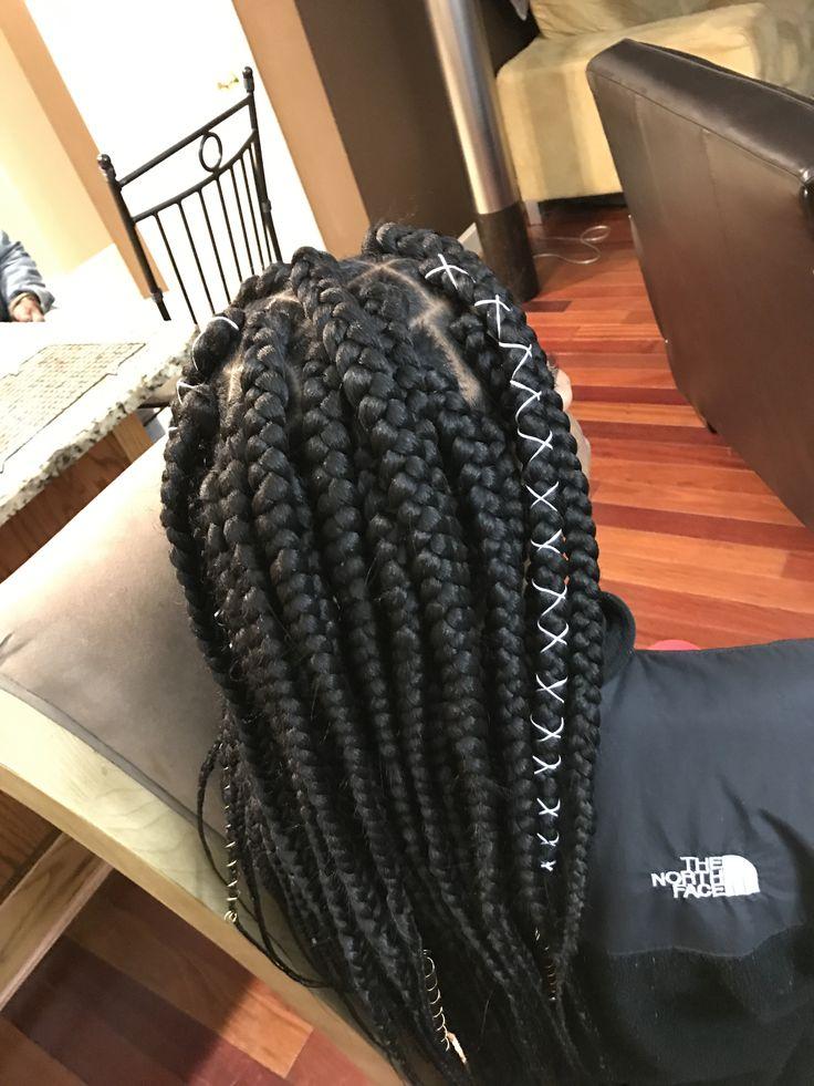 jumbo box braids. by me again.