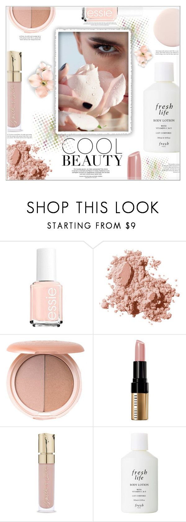 """""""Cool Beauty"""" by suzanne228 ❤ liked on Polyvore featuring beauty, Essie, Bobbi Brown Cosmetics, Stila, Smith & Cult and Fresh"""