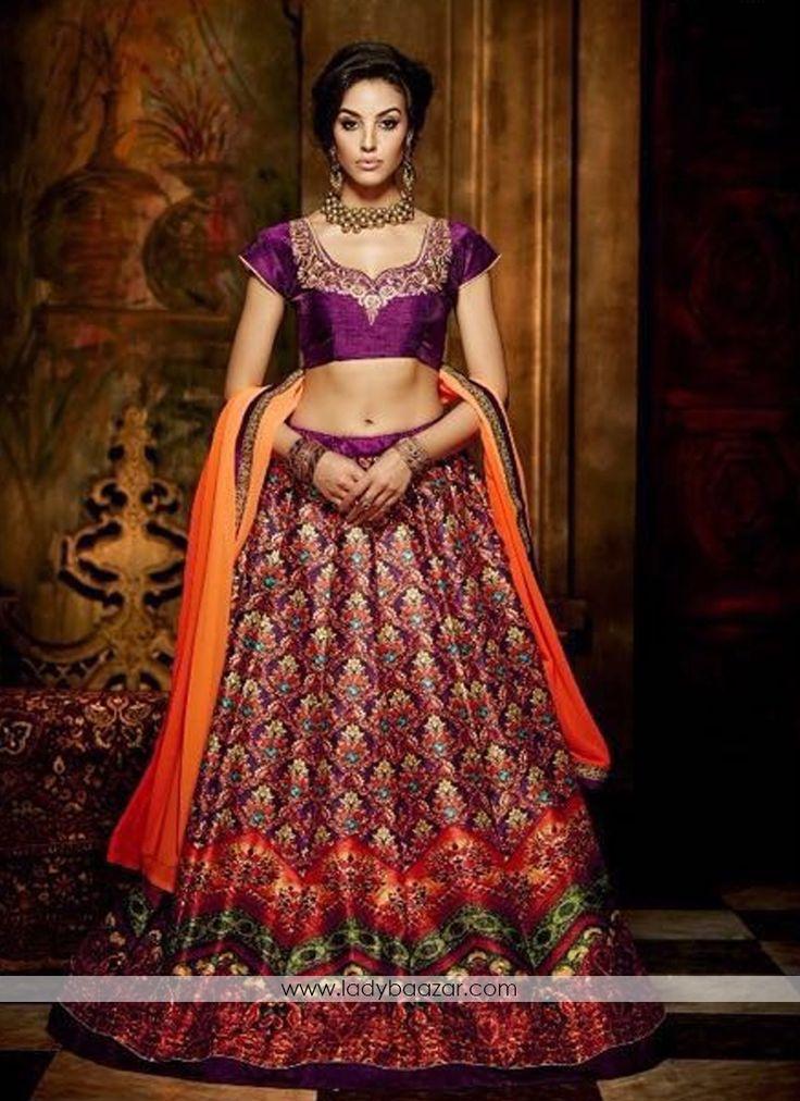Gratifying Banglori Silk Anarkali Lehenga #LehengaCholi #IndianWedding #Reception