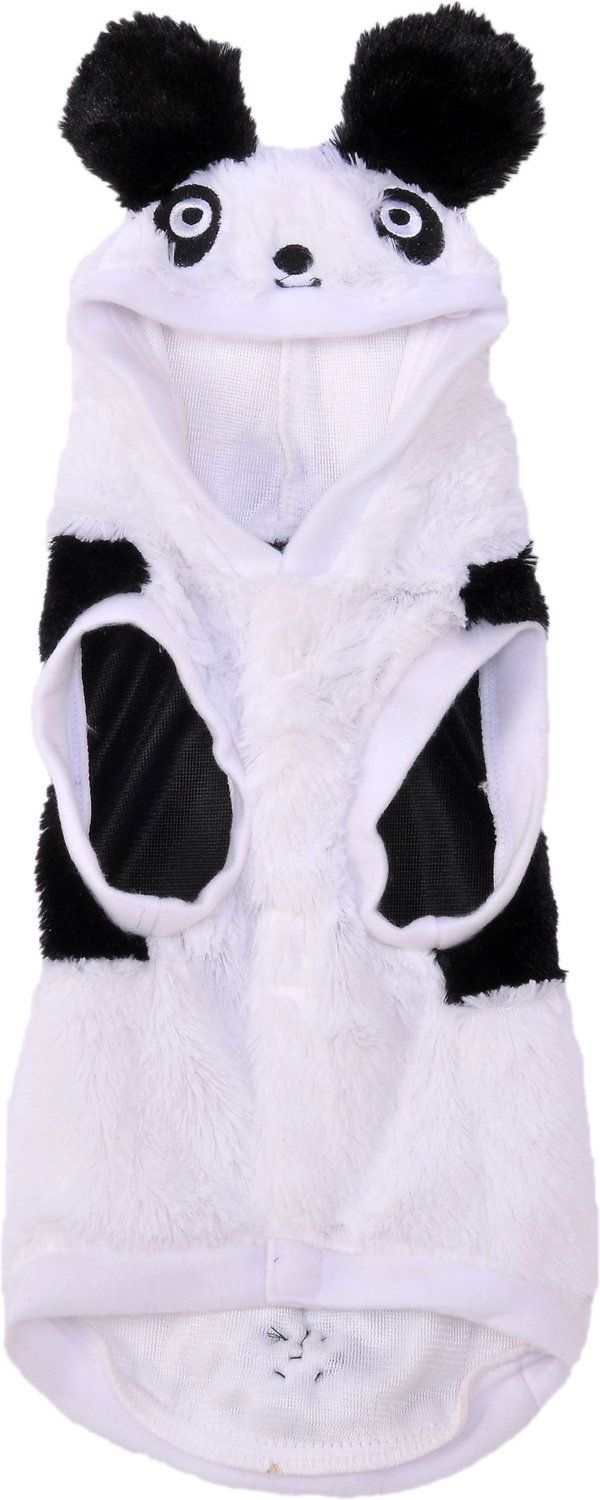 If you've ever dreamed of having your very own real-life panda bear, now you can with the Rubie's Costume Company Panda Dog Costume. This hilariously adorable, one-piece costume features a soft, fleece bodysuit with cute fuzzy tail and a hood complete with furry ears and embroidered facial features. He'll turn plenty of heads strolling through the park, at a pet parade, or meeting Halloween trick-or-treaters at the door. Posting pictures of your little stuffed animal-come-to-life is sure ...