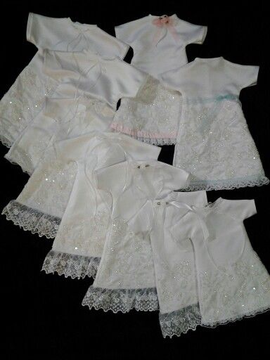 These Angel Gowns are made from a donated wedding dress and then given to hospitals to be given to families who have lost a baby at birth. These 9 gowns were made and donated in memory of 16 month old Joseph Micheal Whatley. http://angelgowns.chauglie.com/index.htm  Come check out some of my other work on facebook at Creative Crafts by Dawn