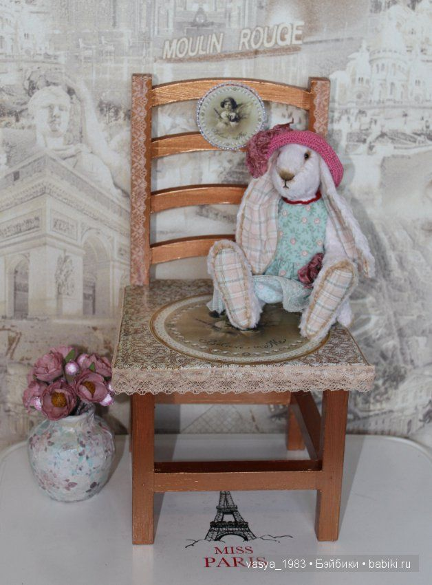 Большой Стул для кукол и вазочка / Кукольная мебель / Шопик. Продать купить куклу / Бэйбики. Куклы фото. Одежда для кукол