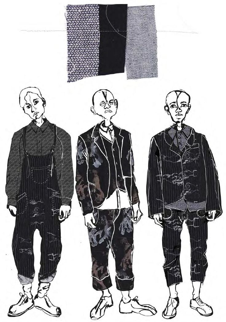 Fashion Sketchbook - fashion illustrations; menswear tailoring; fashion portfolio // Rosie Broadhead