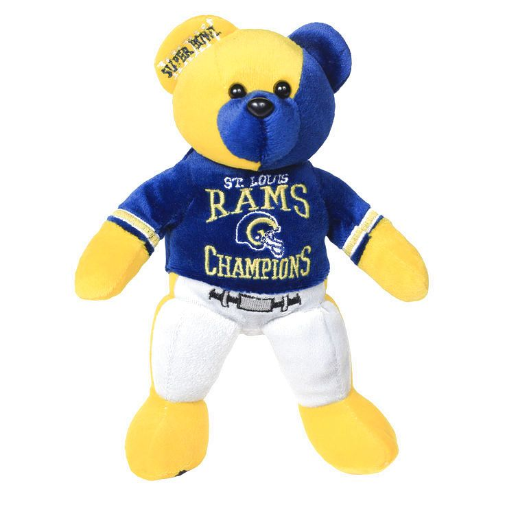 Classic St. Louis Rams Super Bowl XXXIV Champions Thematic Bear - $13.59