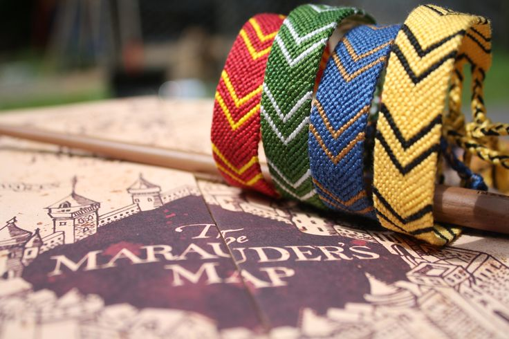 Harry Potter inspired friendship bracelets
