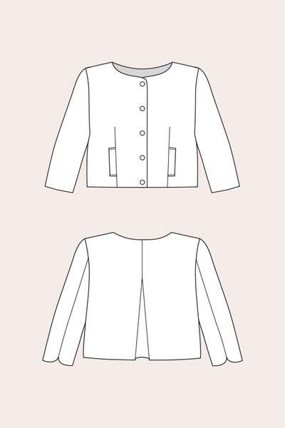 Named Lourdes Cropped Jacket Pattern | Guthrie & Ghani