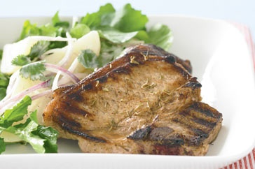 Yaaaayyy an aussie version of this impossible to find spice.....These jerked pork chops are full of flavour, try them for dinner this week.