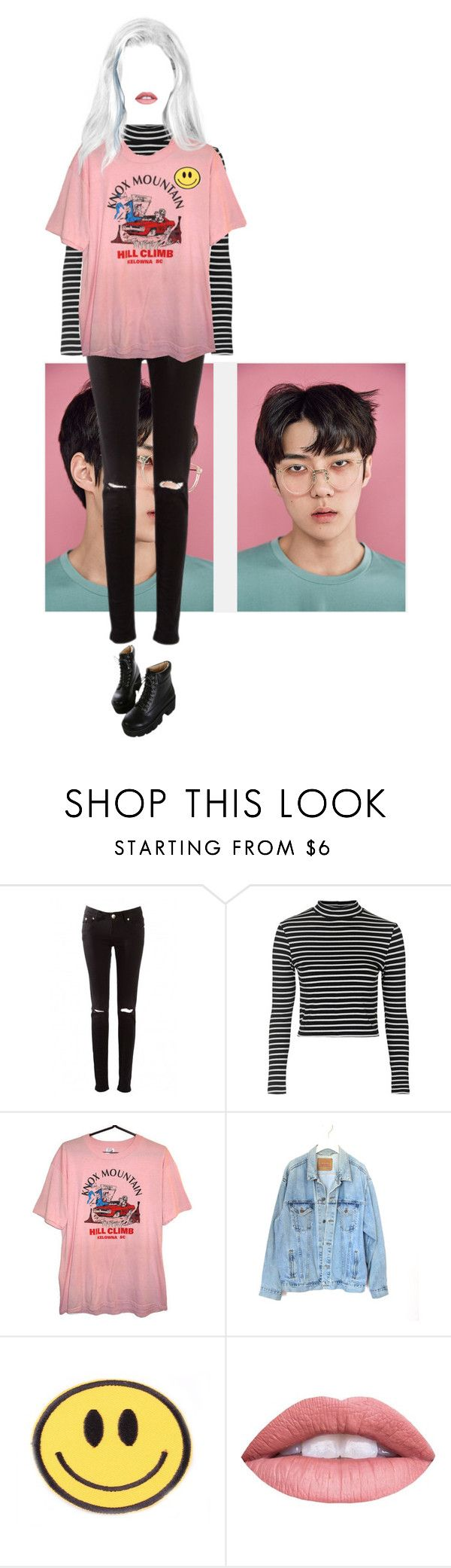 """""""Untitled #53"""" by stomey ❤ liked on Polyvore featuring Topshop, Levi's and Dr. Martens"""