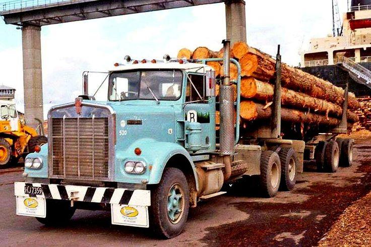 KENWORTH. W924, LogTruck. N.Z. Kenworth, Trucks, Big rig