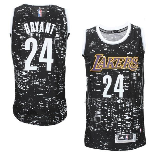 bec3bcf15 Los Angeles Lakers Kobe Bryant Black City Lights Fashion Swingman Jersey