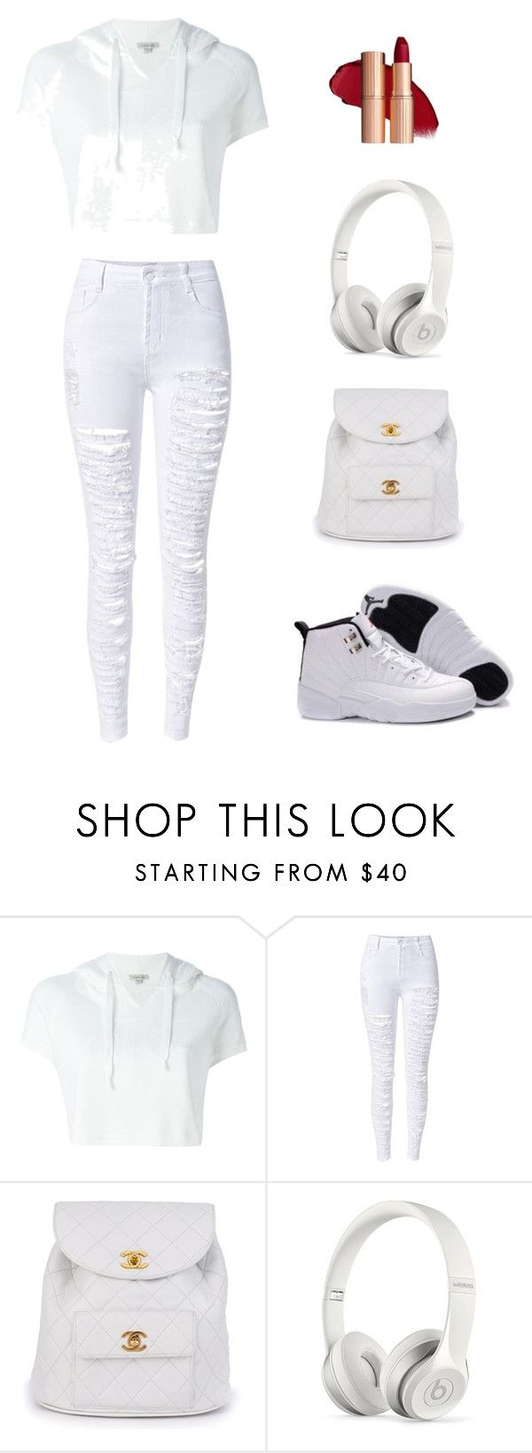 """Untitled #20"" by patshawnj on Polyvore featuring Calvin Klein Jeans, WithChic, Chanel and Beats by Dr. Dre"