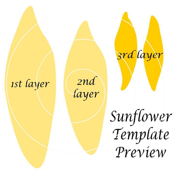 Giant Paper Sunflower Templates Paper, fabric, etc (flower\u0027s