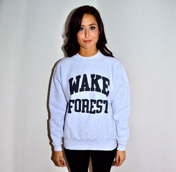 WAKE FOREST UNIVERSITY Vintage 1980s Reverse Weave by louise49, $45.00