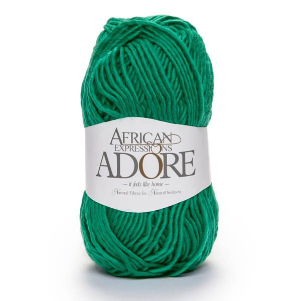 Colour Adore Emerald green, Chunky weight,  African expressions 8088, knitting yarn, knitting wool, crochet yarn, kid mohair yarn, merino wool, natural fibres yarn.