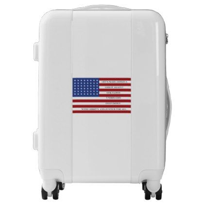 #Let's Make America Great Again!  Americana  MAGA Luggage - #custom #luggage #suitcase #suitcases #bags #trunk #trunks
