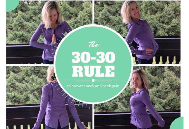 The Simple 30-30 Rule To Prevent Pesky Hunchbacks, back, neck and wrist pain.   #thehealthorange