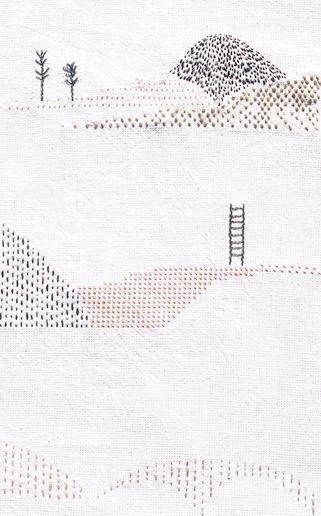 bordados: handmade embroidery / bordados a mano - Montaña Laura Morales