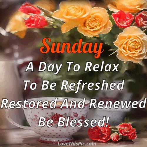 Sunday A Day To Relax Quote Gif
