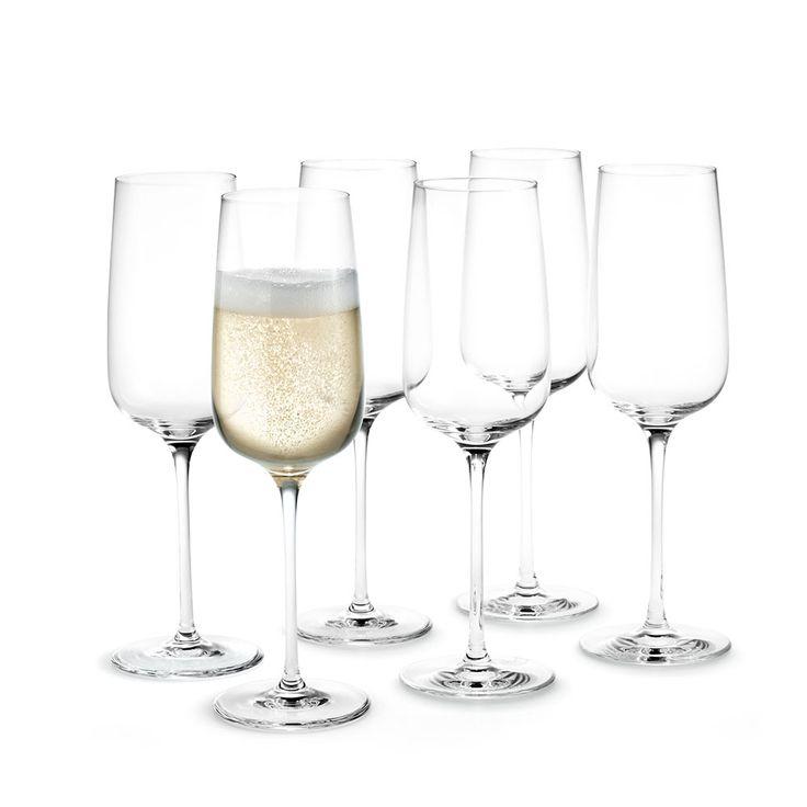 Bouquet Champagneglass 29cl, 6-Pakk, Holmegaard