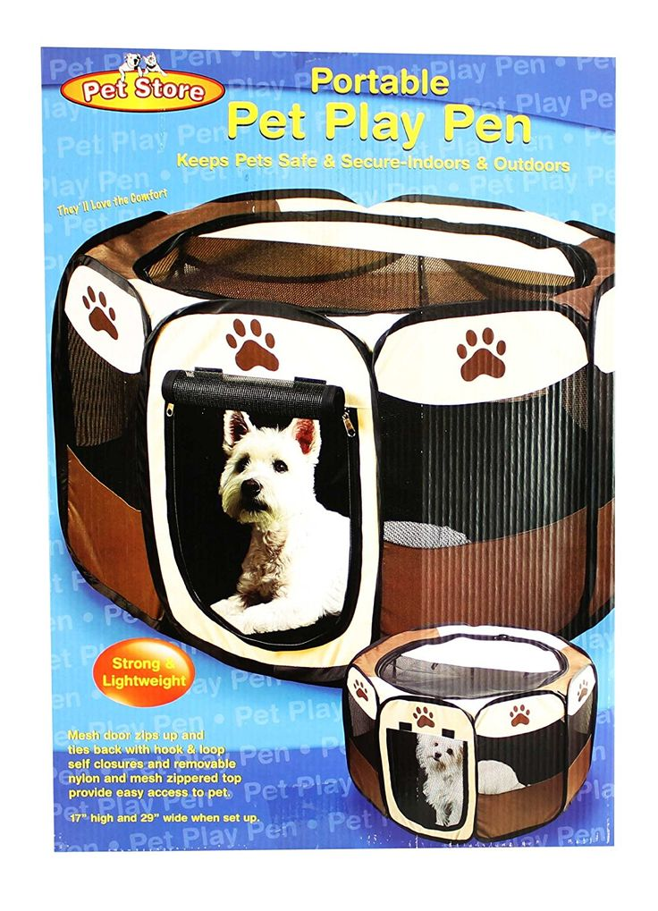 Portable Doggie Play Pen, Small Size by JSNY -- Read more reviews of the product by visiting the link on the image.
