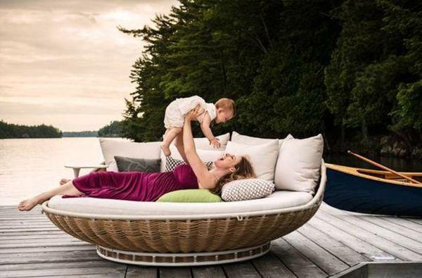 Hängende Liege Swingrest für luxuriöses Faulenzen - http://cooledeko.de/mobel/hangende-liege-swingrest.html