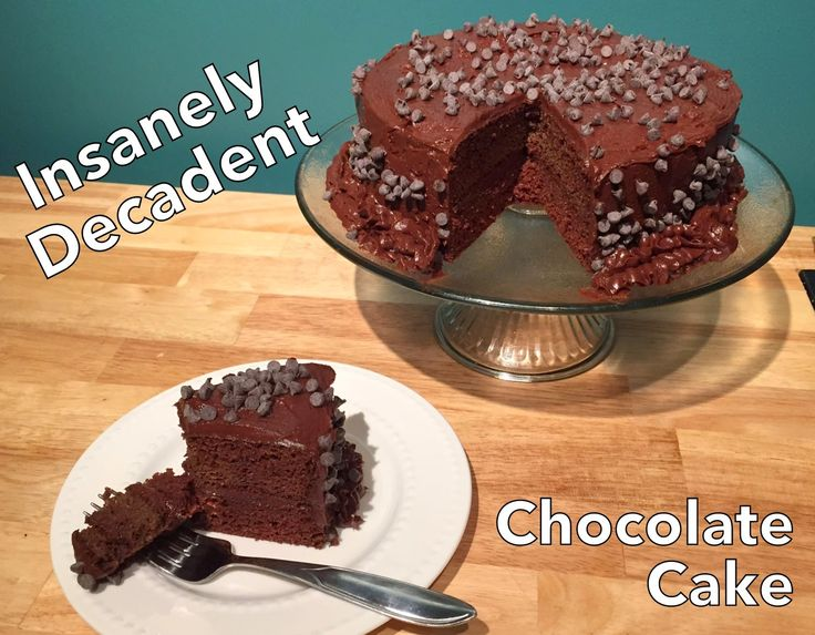 Delicious chocolate cake with chocolate buttercream. Grain & Sugar Free and Low Carb!