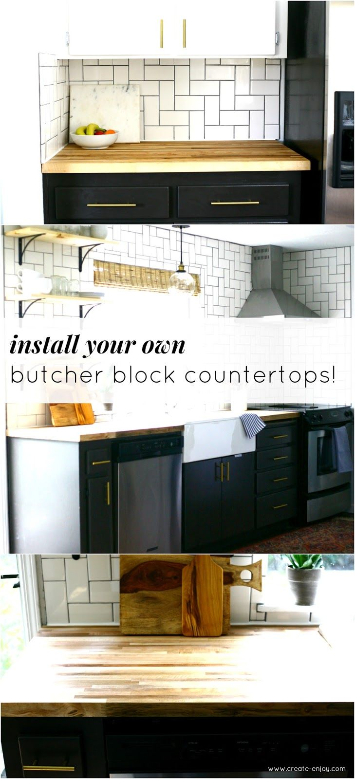 all about our diy butcher block countertops